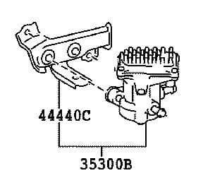 Genuine Lexus Oil Pump Assy with Motor (RH400H, RX350, RX450H) 35300-48011, 3530048011