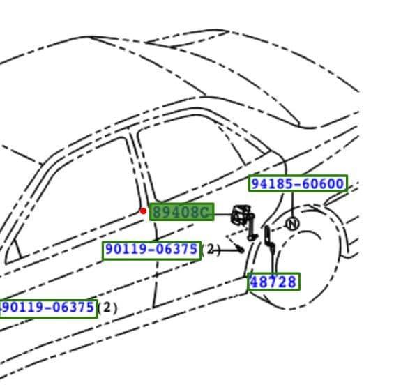 Genuine Lexus Rear LH Height Control Sensor 89408-30110 8940830110