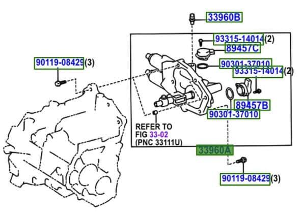 Genuine Toyota Actuator 33960-64041 3396064041