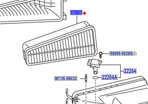 Genuine Toyota Air cleaner Element17801-0C020 178010C020