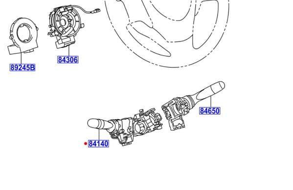Genuine Toyota Aygo Indicator Switch 84140-0H010 841400H010
