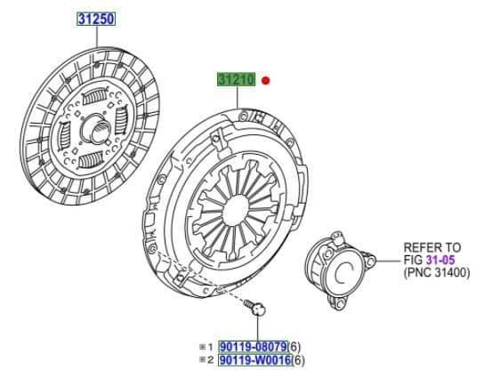 Genuine Toyota Clutch Cover 31210-05121 3121005121
