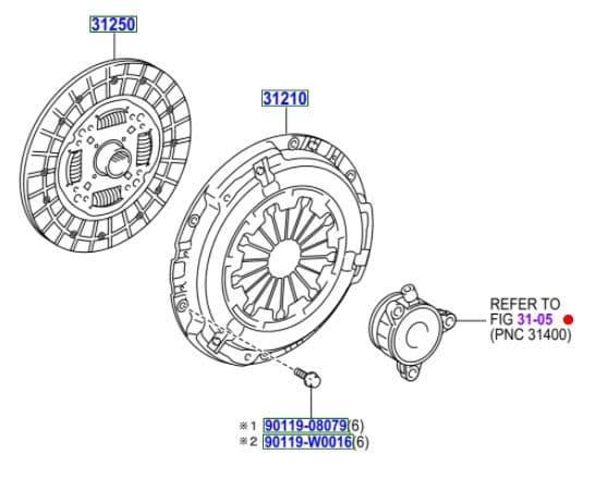 Genuine Toyota Clutch Cylinder TYPE A 31400-09001 3140009001