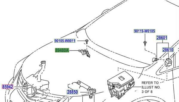 Genuine Toyota Exhaust Pressure Sensor 89480-20040 8948020040
