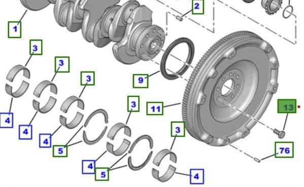 Genuine Toyota Flywheel Bolt SU001-A0131 SU001A0131