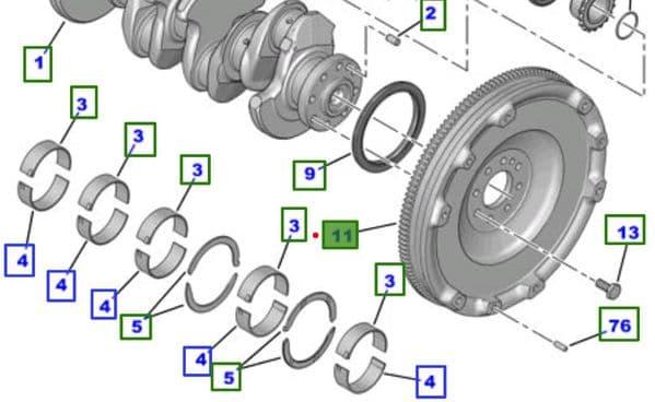 Genuine Toyota Flywheel SU001-A0129 SU001A0129