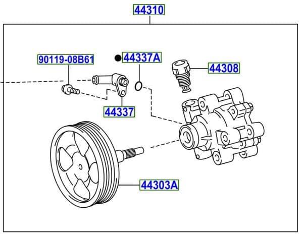 Genuine Toyota Power Steeing Pump 44310-60520 4431060520