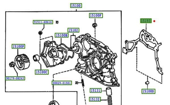 Genuine Toyota Rav4 Oil Pump Gasket 15197-74040 1519774040