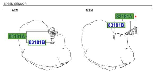 Genuine Toyota Speedometer Sensor 83181-12050 8318112050