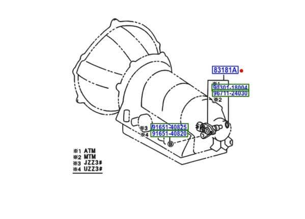 Genuine Toyota Supra Soarer 1JZ-GTE 5 Speed R154 Speed Sensor 83181-24060 8318124060