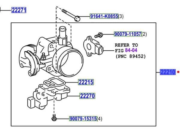 Genuine Toyota Throttle Body 22210-0D090 222100D090
