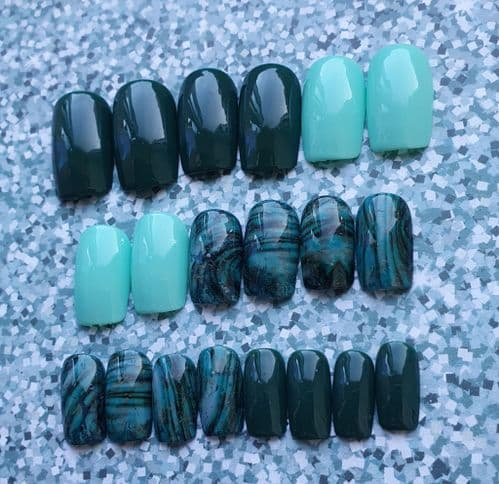 Amazonite Foil with Pine Forest