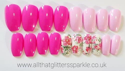 Bubblegum,Baby Pink & Floral Foil