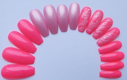 Flamingo Pink, Sugar Daddy & Marble