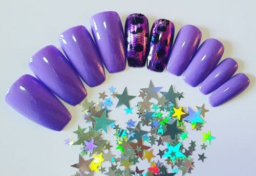 Holo Purple Leopard with Wild Violet