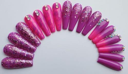 Neon Nights & Bubblegum Pink with Rainbow Rose Glitter