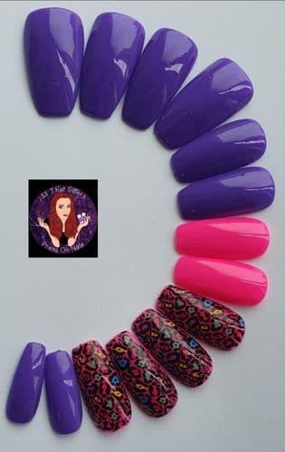 Vivid Violet,  Bubblegum & Pink Jungle