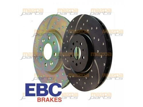 Mazda MX5 1.6 EBC Dimpled and Slotted Front Sports Brake Discs (pair)