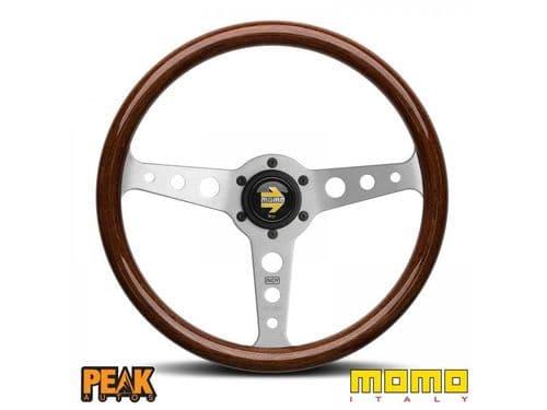 Momo Indy Classic Mahogany Wooden Steering Wheel 350mm