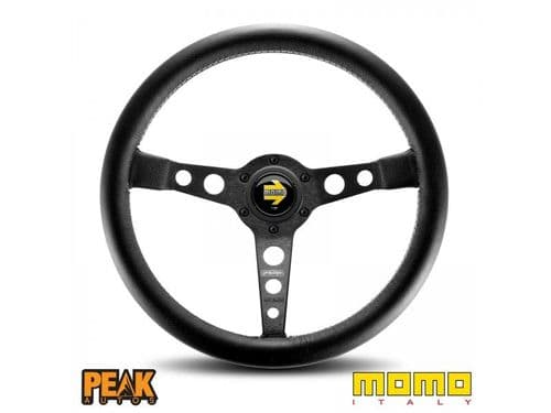 Momo Prototipo Black 350mm Leather Steering Wheel