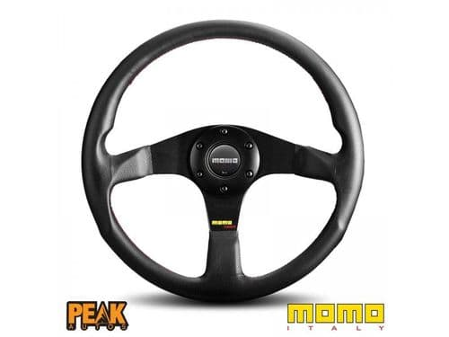 Momo Tuner 350mm Black Leather Steering Wheel made in Italy