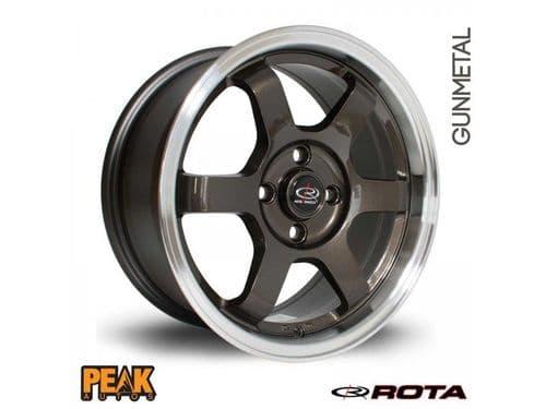 "Rota Grid 16x7"" ET40 Gunmetal 4x100"