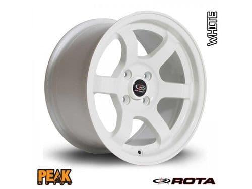 "Rota Grid 17x7.5"" ET45 White 4x100"