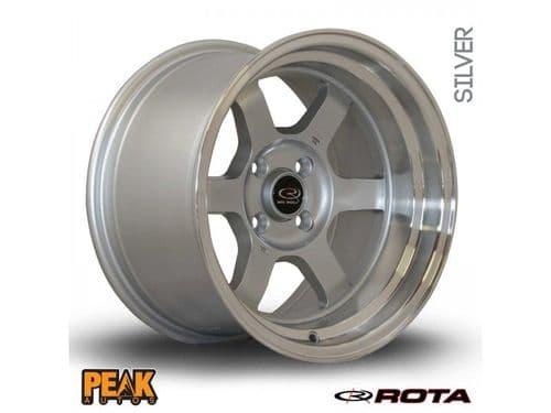 """Rota Grid-V 15x7"""" ET20 Silver 4x100"""