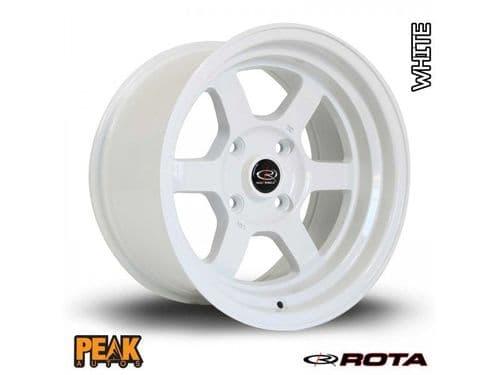 """Rota Grid-V 16x8"""" ET20 White 4x100"""