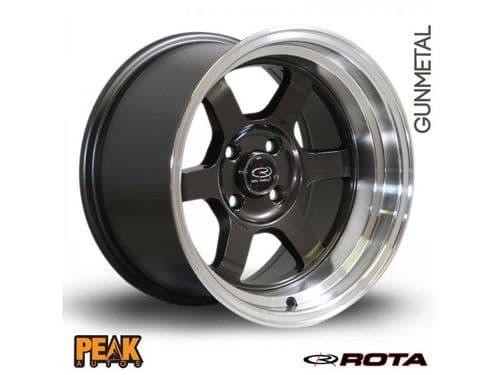 """Rota Grid-V 17x9"""" ET42 Gunmetal/Black 5x100"""