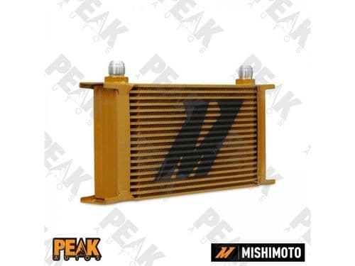 Mishimoto Universal 19 Row Oil Cooler -10AN Fittings GOLD