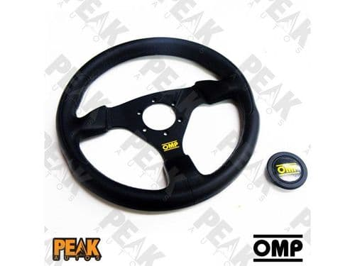 OMP Racing GP Steering Wheel 330mm BLACK Flat Polyurethane