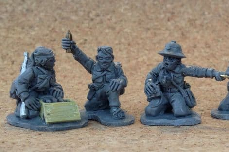Viet Cong mortar team. 28mm