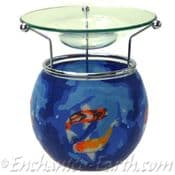 Benaya- Hand Crafted Light Glass Nightlight & Oil Burner- Koi Fish