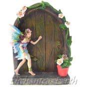 Blue Flower Fairy Door