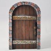 Brick Surround Oak Castle Kingdom Fairy Door - 13cm