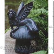 Bronze Effect Fairy on a Toadstool