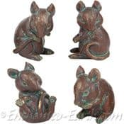 Bronze Effect- Family of Mice