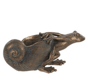 Bronze effect resin - Hermit Frog - 16cm