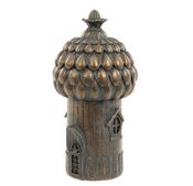 Bronze Fairy House  - Antique Bronzed Resin Garden Ornament - 16.5cm