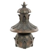 Bronze Squash Fairy House  - Antique Bronzed Resin Garden Ornament - 19cm