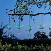 Butterfly & Dragonfly  Flutter Glow's - Glow in the Dark - Garden ornaments - 33cm