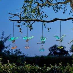 Butterfly & Dragonfly  Flutter Glow's - Glow in the Dark - Garden ornaments - 33cm.