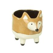 Ceramic Fox Planter on 4 legs - 15.5cm