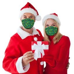 Christmas Lights  - Party Face Mask /Face Covering.