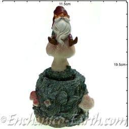 Christmas Moving  Gnome Musical Box - Plays 8 Christmas Tunes - 19.5cm.