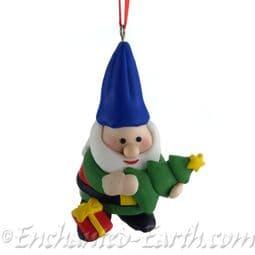 Christmas Santa Gnome (Holding & Tree)