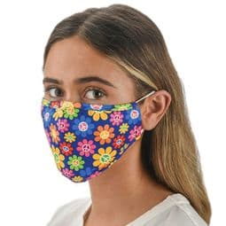CND - Peace Daisy - Multi - Colour - Party Face Mask /Face Covering.