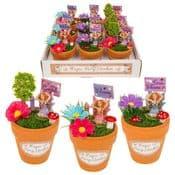 Complete read made Magical Flower Pot Fairy garden - Mini 11cm Terracotta Flower Pot