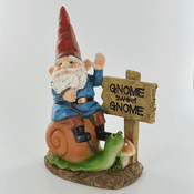 Country Garden Gnome - George the Gnome Sweet Gome on Magical Snail - 12.5cm